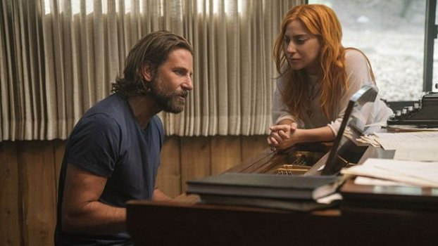 A Star Is Born Bradley Cooper plays piano for Lady Gaga