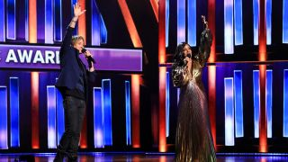 Keith Urban and Mickey Guyton host the 56th Academy of Country Music Awards