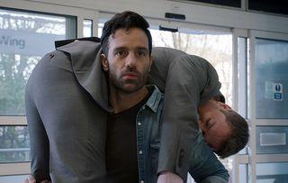 Kian Mark over shoulder Holby
