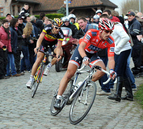 Fabian Cancellara and Tom Boonen, Tour of Flanders 2010