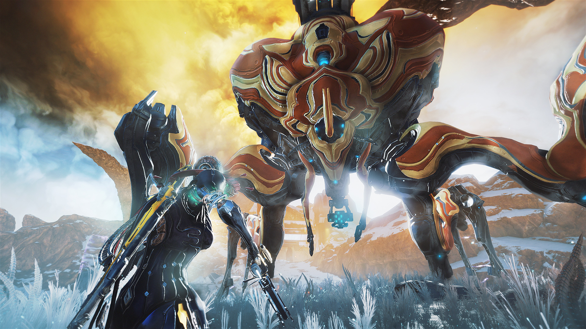 Warframe's new expansion is a stunning alien landscape full of giant robo-bugs | PC Gamer