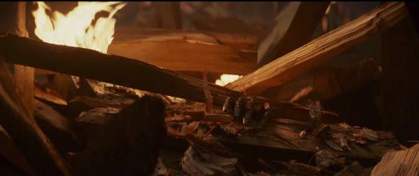 Luke's Hand in rubble, Star Wars: The Last Jedi
