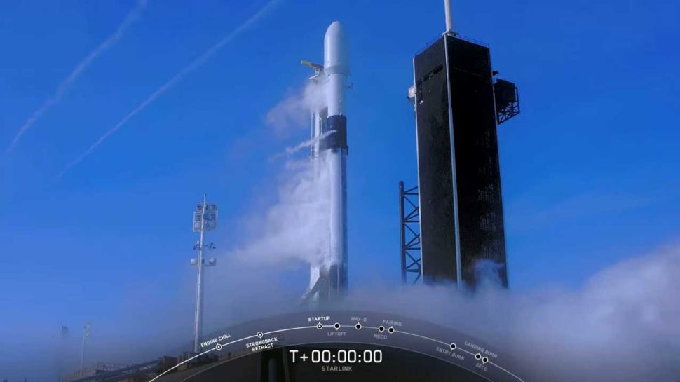 SpaceX Falcon 9 rocket aborts Starlink satellite constellation launch at last second