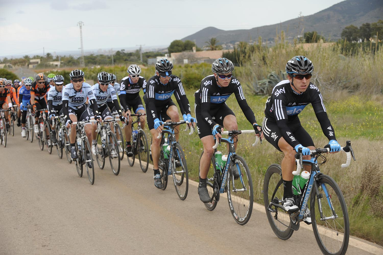 Russell Downing leads, Tour of Murcia 2011, stage one