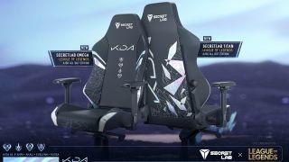 K/DA Secretlab gaming chair