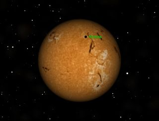 Venus Transit 2012 Sky Map