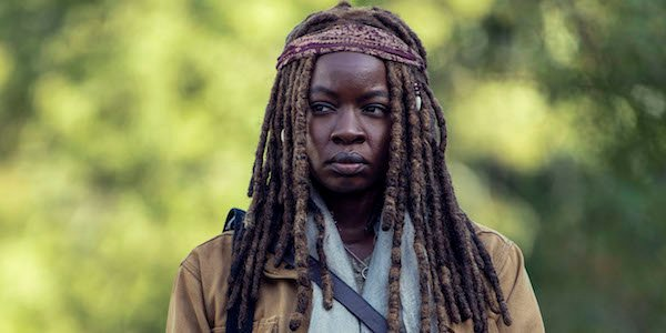 pregnant michonne flashback the walking dead