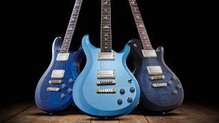 A trio of PRS guitars