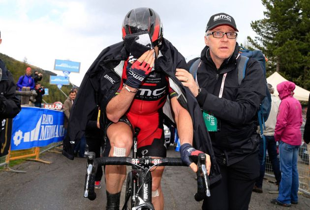 Cadel Evans on stage sixteen of the 2014 Giro d'Italia