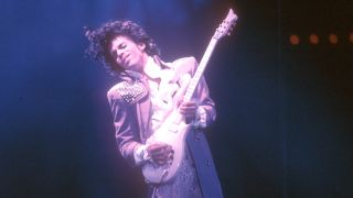 Prince performs live at the LA Forum on February 19, 1985