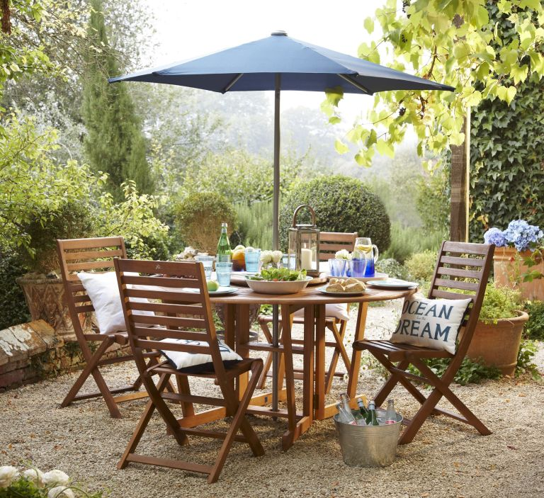 2 Pack Windsor Folding Dining Chairs £50, Windsor Wooden Round Gateleg Table 150Cm £160, 2.7m Crank Shaft Parasol Navy £35 tescodirect.com.jpg