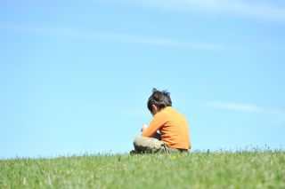 boy sitting alone, child, autism