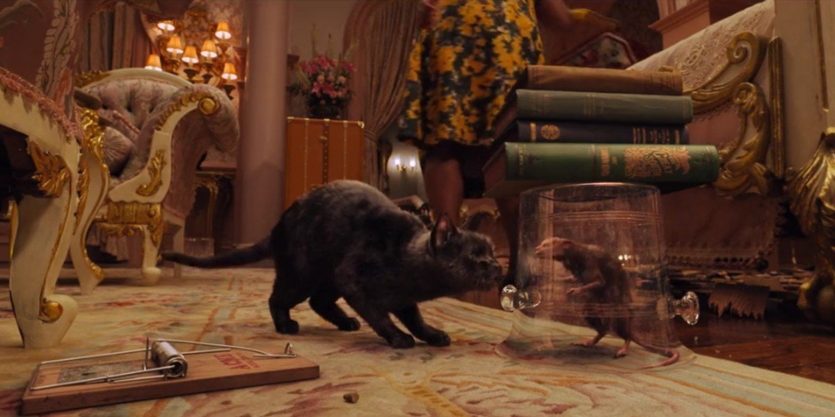The Grand High Witch's cat and the mouse version of The Grand High Witch in The Witches