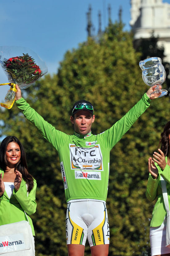Mark Cavendish wins points classification, Vuelta a Espana 2010, stage 21