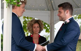 Emmerdale spoilers: Aaron and Robert looks absolutely thrilled as they finally get married in Emmerdale
