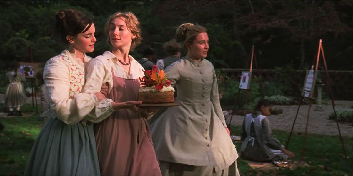 three sisters converse in Little Women 2019