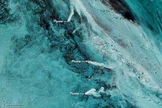 Trio of Volcanoes - South Sandwich Islands