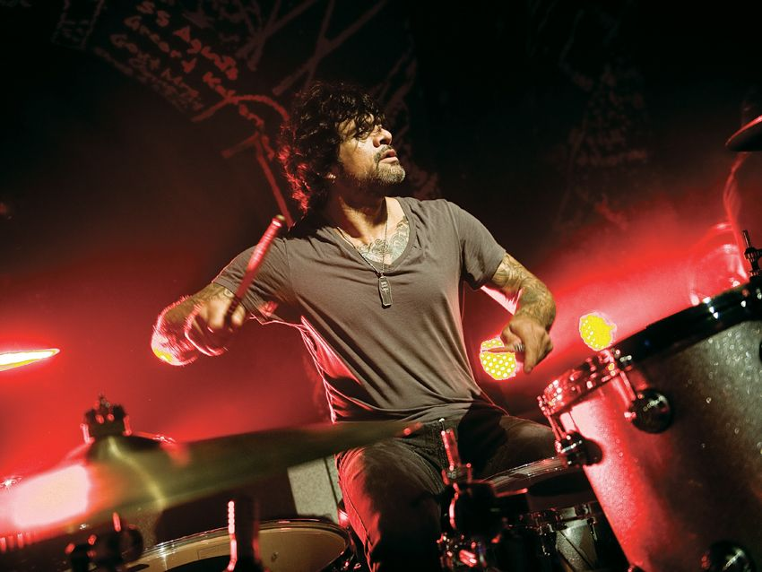 Joey Castillo S Queens Of The Stone Age Drum Setup In