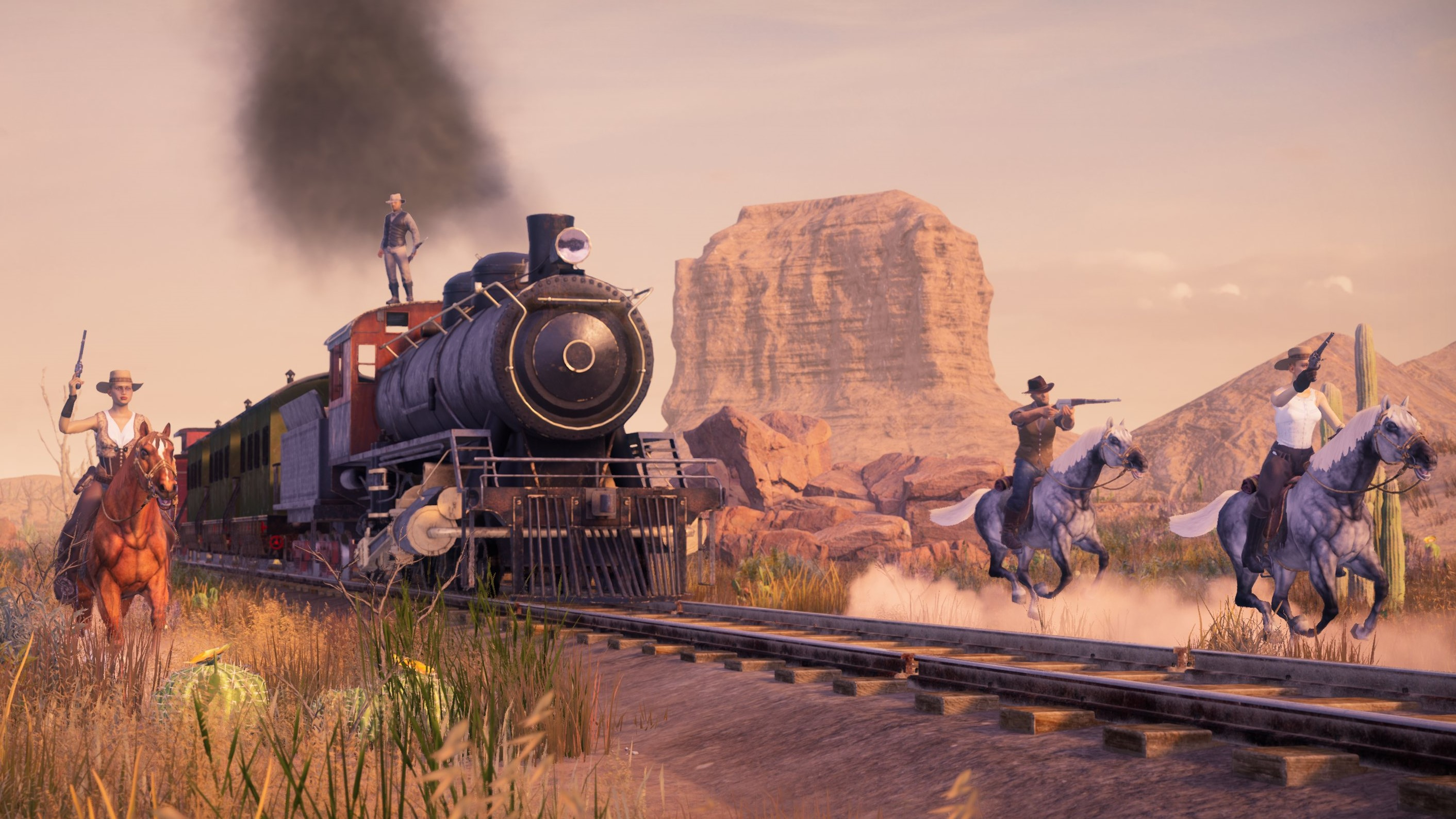 Cowboy battle royale Grit has horse combat, trains, and a clever take on loot