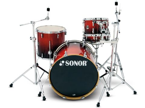 Sonor's distinctive design touches lend an air of sophistication to the whole set-up