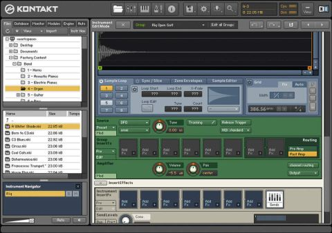 The Kontakt interface is easier to navigate than in previous versions.