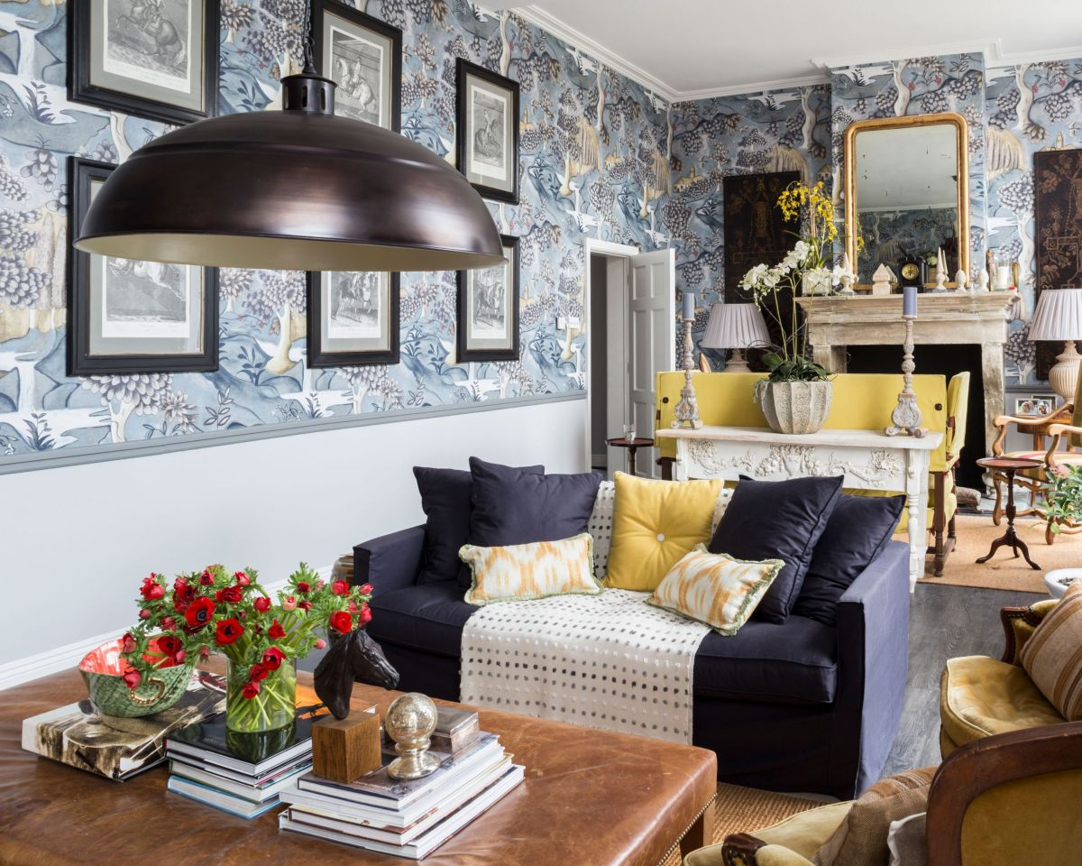 Living Room Wallpaper Ideas 12 Ways To Decorate Your Walls Homes Gardens Homes Gardensdocument Documenttype