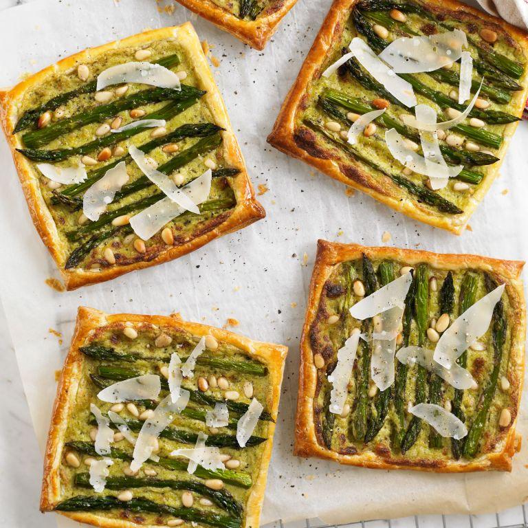 Asparagus & Pesto Tarts recipe-vegetarian recipes-recipe ideas-new recipes-woman and home
