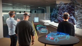 Microsoft HoloLens and Volvo S90
