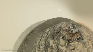 Curiosity rover s Mastcam selfie