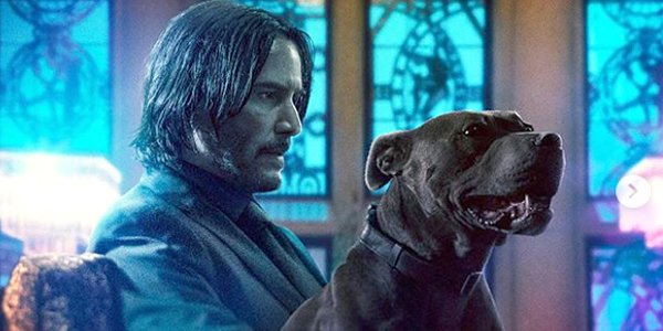 John Wick: Chapter 3 - Parabellum John Wick Keanu Reeves and dog poster