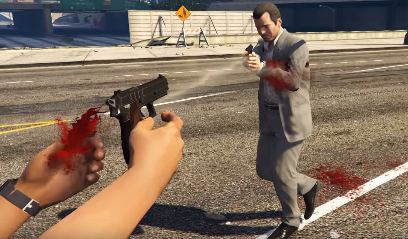 GTA 5 mod lets you shoot guns out of people's hands | PC Gamer