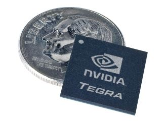 Nvidia s new Tegra chip on a US dime coin ie it s THAT tiny