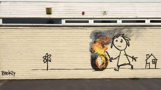 New Banksy street art has a heart-warming edge