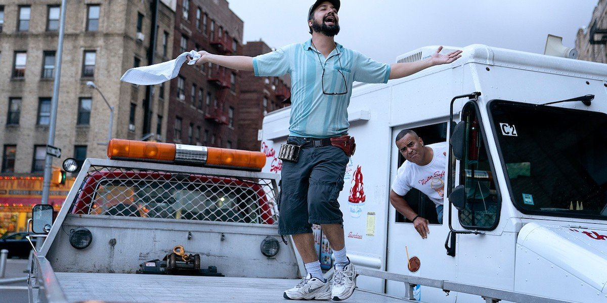 Lin Manuel Miranda and Christopher Jackson in In The Heights