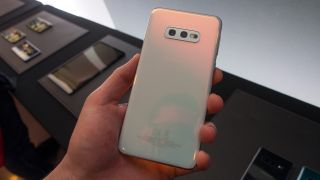 Technically, the Samsung Galaxy S10e, but colors are identical across the line (Image credit: TechRadar)
