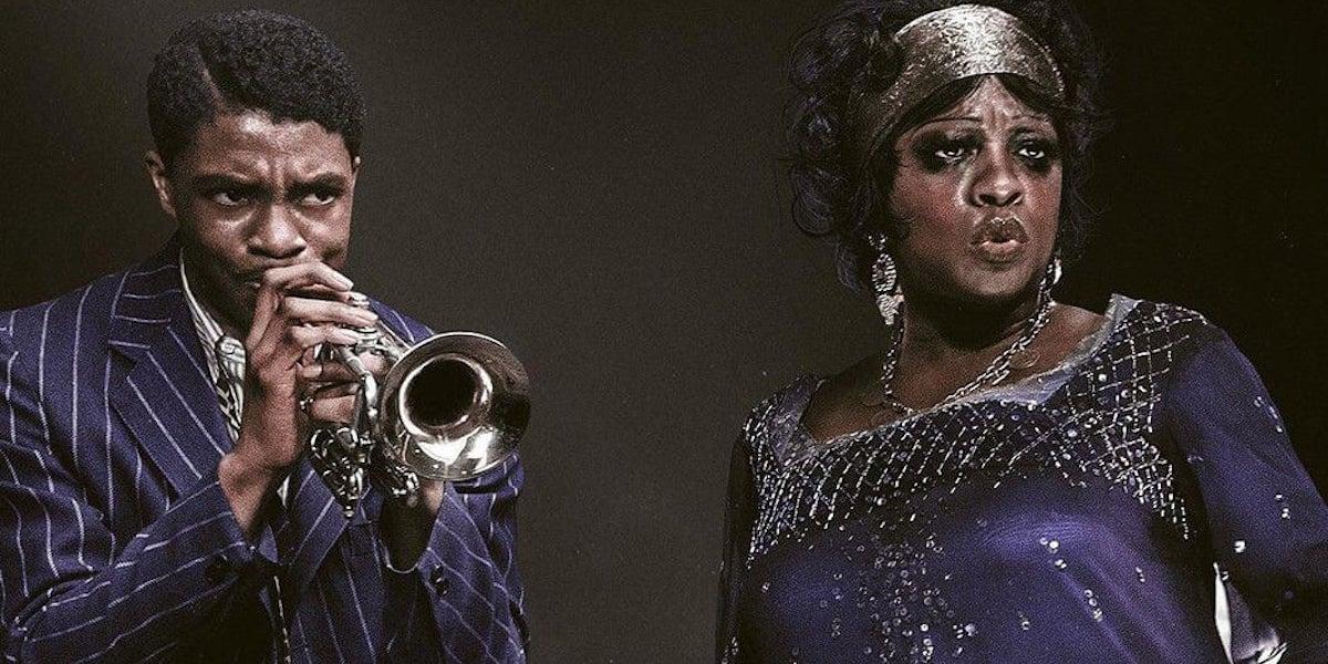 Chadwick Boseman and Viola Davis in Ma Rainey's Black Bottom