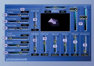 Logic's platinumverb plug-in contains all the essential parts on any modern digital reverb