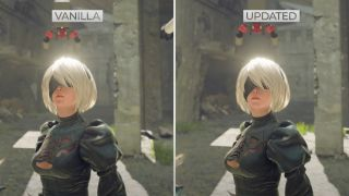 Nier Automata's 2B texture comparison