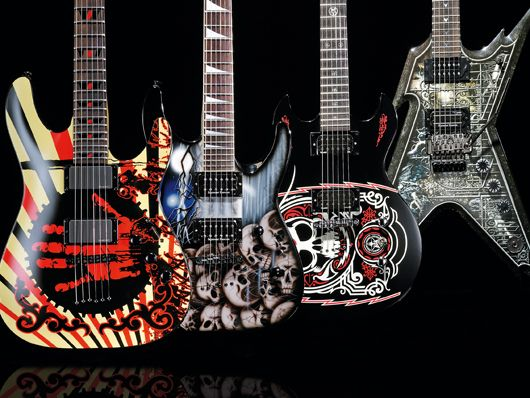 round up 4 graphic finish metal electric guitars musicradar. Black Bedroom Furniture Sets. Home Design Ideas