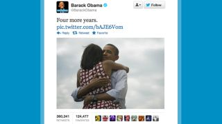Obama's 'four more years' victory tweet is most popular of all time