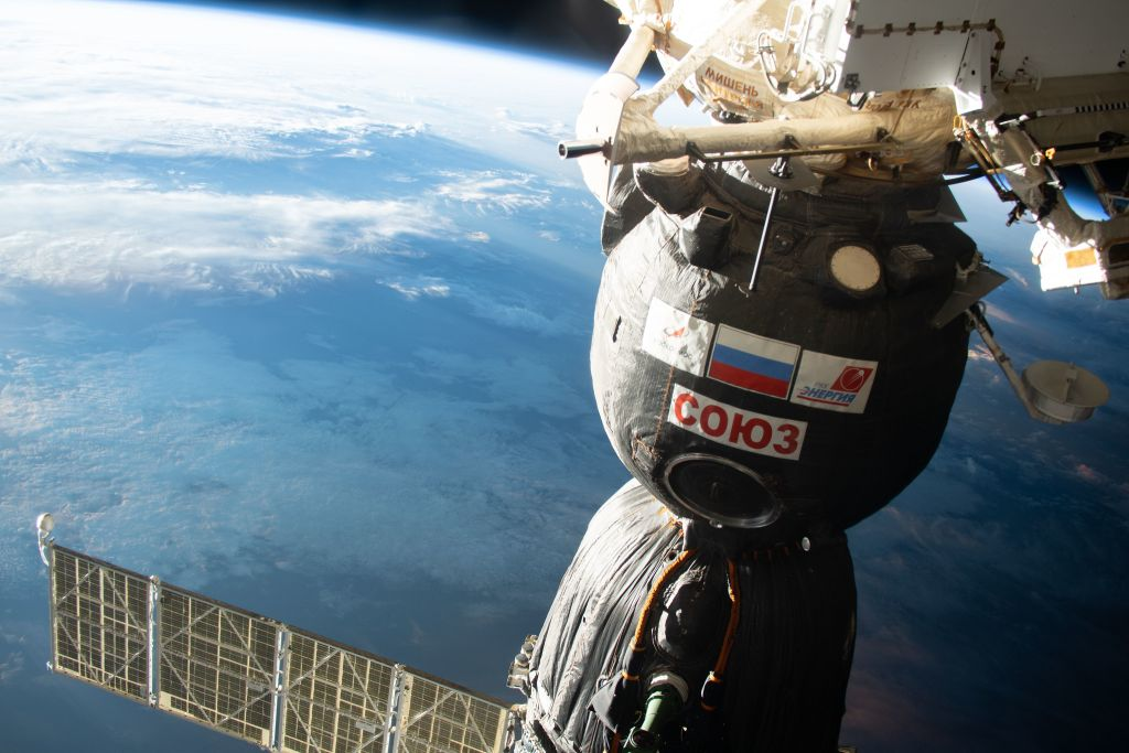 Space station crew will take their Soyuz spacecraft for a spin today and you can watch it live
