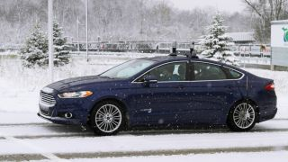 Ford autonomous cars snowy weather