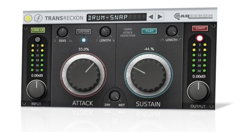 The Sustain knob lets you increase or decrease the tail level of drums, guitars, basses and other percussive or 'plucky' sounds