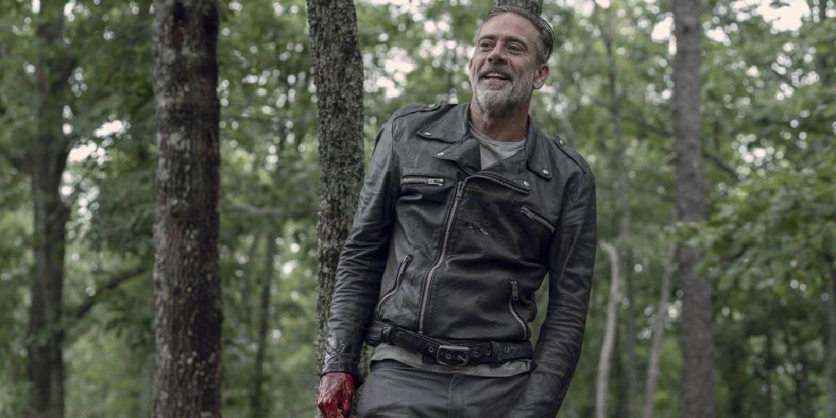 Negan in The Walking Dead.