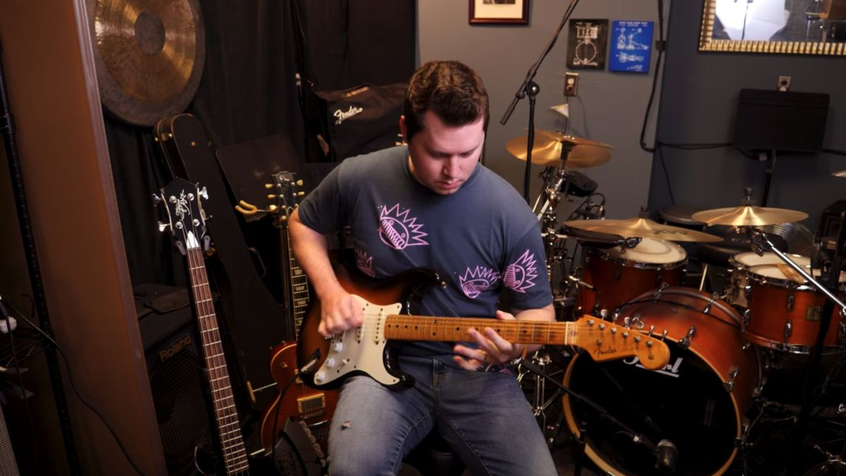 Music Is Win's Tyler Larson plays Eric Clapton's 1954 'Slowhand' Strat before it goes to auction