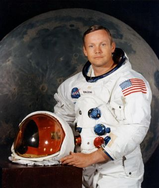 Neil Armstrong poses for a NASA portrait in 1969.