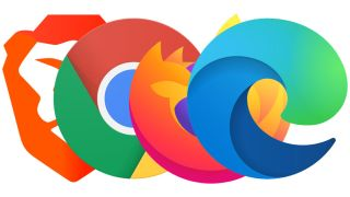The Brave, Chrome, Firefox and Edge logos grouped in a line.