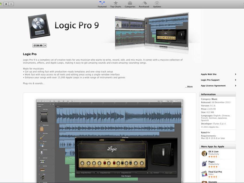 Apple Logic Pro 9 on Mac App Store for £140 | MusicRadar