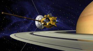 Cassini at Saturn. I