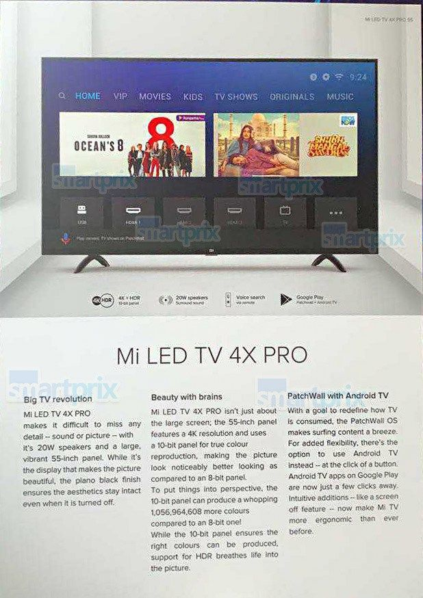 Xiaomi might launch the Mi LED TV 4X Pro and Mi Soundbar on